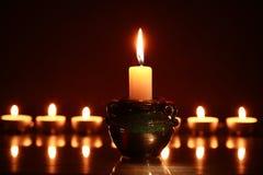 Candles On Dark Royalty Free Stock Photos