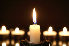 Candles On Dark Stock Image