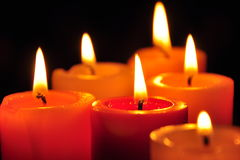 Candles in darkness. Stock Photography