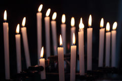 Candles in the darkness Royalty Free Stock Photos