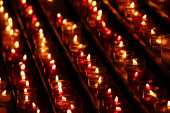 Candles in the darkness Stock Photo