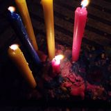 Candles day in colombia Stock Photography