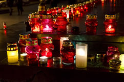 Candles on day of the famine victims in Ukraine Royalty Free Stock Image