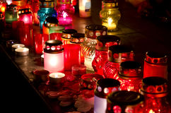 Candles on day of the famine victims in Ukraine Stock Photography
