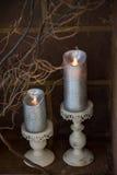 Candles a decoração Fotos de Stock Royalty Free
