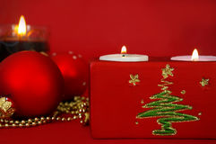 Candles and decoration Royalty Free Stock Photos