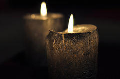 Candles decoration. Candles with background of dark Stock Photography