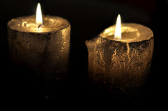 Candles decoration. Candles with background of dark Stock Images