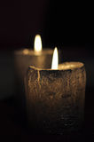 Candles decoration. Candles with background of dark Royalty Free Stock Photography