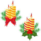 Candles and decorations Stock Photos