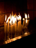 Candles. Detail of some candles burning in the Church of St. Anthony of Padua (Istanbul Stock Images