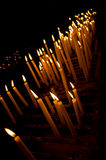 Candles. Detail of some candles burning in the Church of St. Anthony of Padua (Istanbul Stock Photography