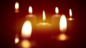 Candles. Dynamic focus Stock Image