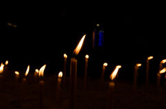 Candles of faith Stock Photography