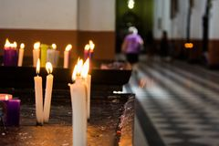Candles and faith Royalty Free Stock Images