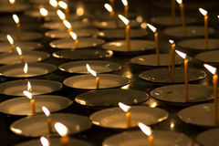 Candles of faith Stock Image