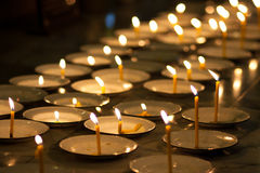 Candles of faith Stock Images