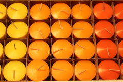 Candles in file Royalty Free Stock Photo