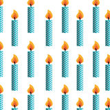 Candles fire pattern background. Vector illustration design Stock Images