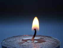 Candles' flame. Candle's flame in the dark background Stock Photos