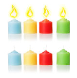 Candles and flame | Isolated Royalty Free Stock Photography