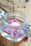 Candles and flowers Royalty Free Stock Photography