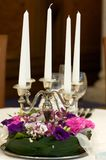 Candles with flowers Royalty Free Stock Photos