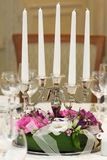 Candles with flowers Royalty Free Stock Image