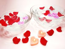 candles flowers spa Στοκ εικόνες με δικαίωμα ελεύθερης χρήσης