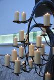 Candles at a funeral service Stock Image