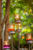 Candles in glass candle holders Stock Photography