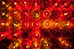 Candles in glass Royalty Free Stock Images