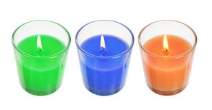 Candles in Glasses Stock Photography