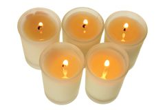 Candles in Glasses Royalty Free Stock Image
