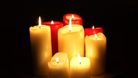 Candles go out stock video