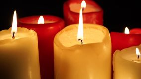 Candles go out stock footage