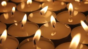 Candles group stock video footage
