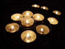 Candles prayer Stock Photos