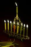 candles hanuka hanukkiya Στοκ Φωτογραφίες