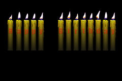 Candles happy birthday Royalty Free Stock Photos