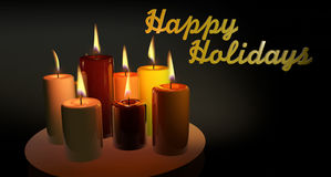 Candles Happy Holidays Royalty Free Stock Photography