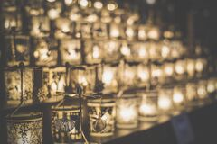 Candles in holders Stock Photography