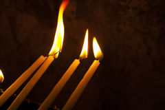 Candles in the Holy Sepulchre Royalty Free Stock Images