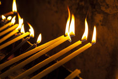 Candles in the Holy Sepulchre Royalty Free Stock Image
