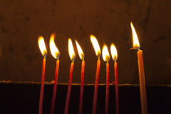 Candles in the Holy Sepulchre Royalty Free Stock Photography