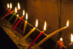 Candles in the Holy Sepulchre Royalty Free Stock Photos