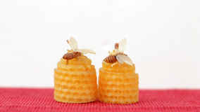 Candles of honey Stock Images