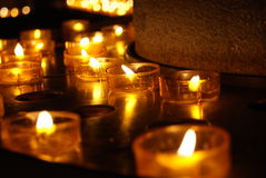 Candles of hope Stock Photography