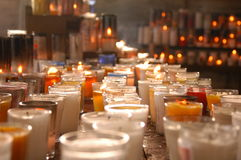 Candles of Hope. Santuary corner in Dominican Republic Royalty Free Stock Images
