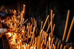 Candles of Hope stock photos